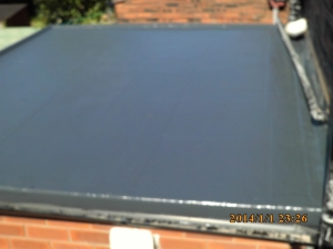 GRP Fiberglass roof AFTER WORKS