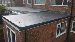 GRP Fiberglass roof AFTER WORKS.