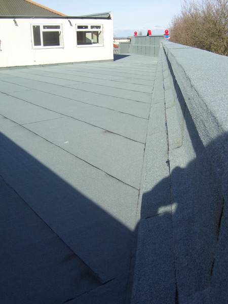 JJ Nuttall Garages, Extensions, Main flat roof areas